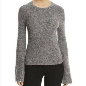 Theory Cashmere Bell Sleeve Marled Sweater